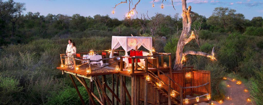Romantic bush dinner in Zimbabwe.