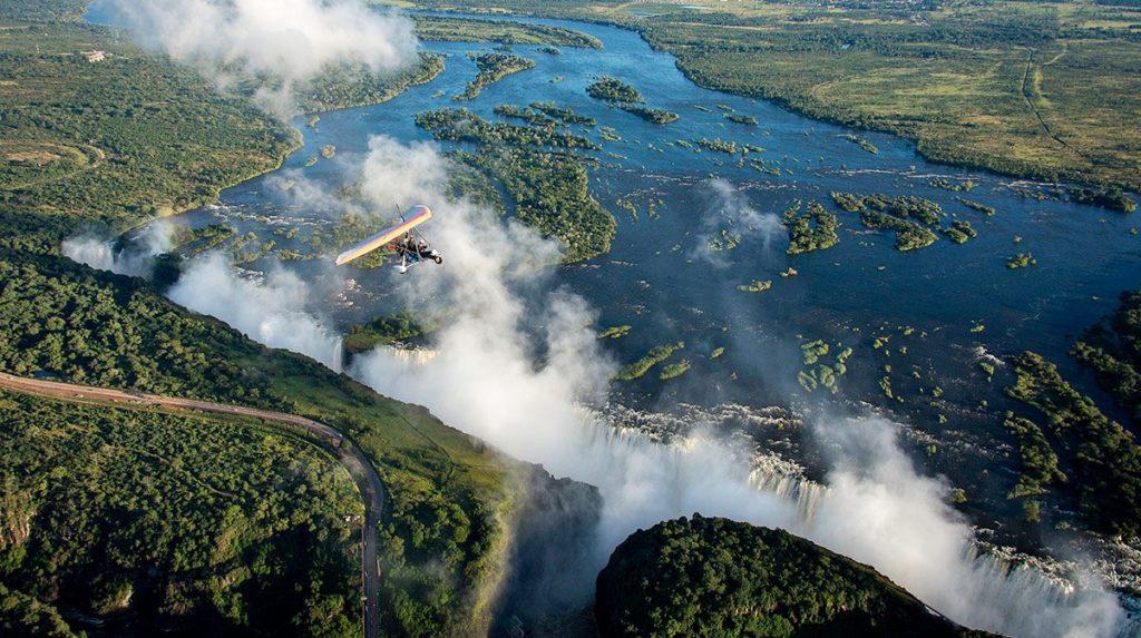Microlight Over Zambezi