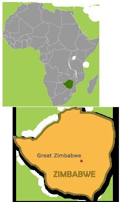 Great Zimbabwe Map Africa.Great Zimbabwe Map Travel Wild Africa